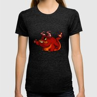 PICKUP MONSTER Womens Fitted Tee Tri-Black SMALL