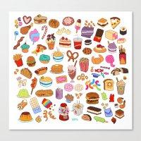 Cute Food Canvas Print