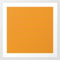 U14: sunset chevron Art Print