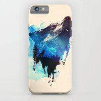 wolf iPhone & iPod Cases featuring Alone as a wolf by Robert Farkas