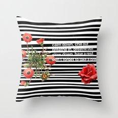 rush to relax Throw Pillow