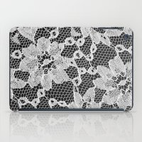 Black And White Laced iPad Case