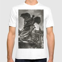 Angel With A Sword Mens Fitted Tee White SMALL