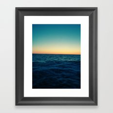 Ocean Skyline Framed Art Print