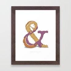 Peanut Butter & Jelly Framed Art Print