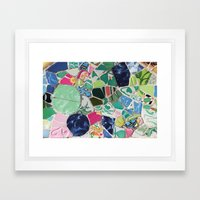 Tiling with pattern 6 Framed Art Print