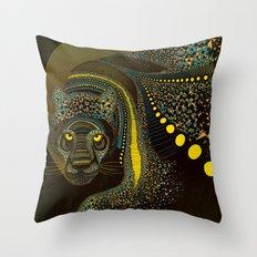Dark Jaguar Throw Pillow