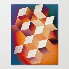 Oil Slick Cubes Canvas Print