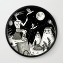 His Destiny Was Written in the Night Sky Wall Clock