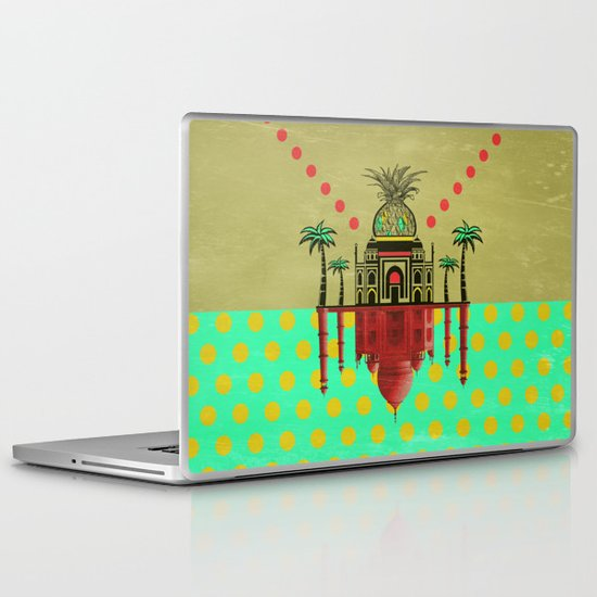 pineapple architecture 2 Laptop & iPad Skin