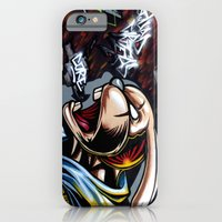 iPhone & iPod Case featuring REBBEL RABBIT by squadcore