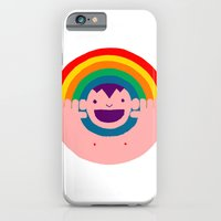 iPhone & iPod Case featuring Rainbow Kid by Ivan Solbes