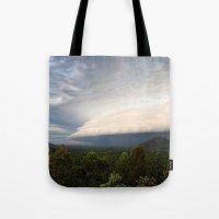 Storm clouds over Australian landscape Tote Bag