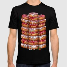 Donuts IV 'Merry Christmas' Black SMALL Mens Fitted Tee