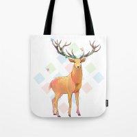 Deer and Diamonds Tote Bag