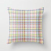 Rainbow Weave Throw Pillow