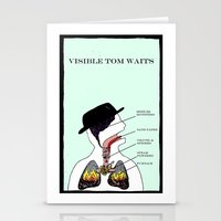 VISIBLE TOM WAITS Stationery Cards
