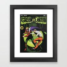 Green Lantern No. 1 Framed Art Print