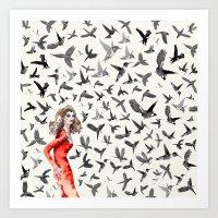 Barcelona Summer Bird La… Art Print