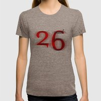26 Womens Fitted Tee Tri-Coffee SMALL
