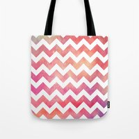 Watercolor Chevron. Tote Bag