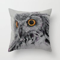 Spirit Owl Throw Pillow