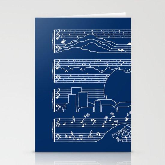 The Moonlight Sonata Blue Stationery Card