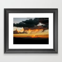 Black Canyon Sunset Framed Art Print