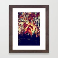 Orange Leafs Framed Art Print