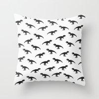 T-Rex Pattern Throw Pillow