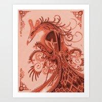 Red Fowl Art Print