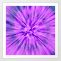 PURPLE TIE DYE Art Print