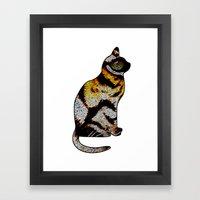 CAT TIGER Framed Art Print
