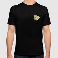 LOVE QUOTE Mens Fitted Tee Black SMALL