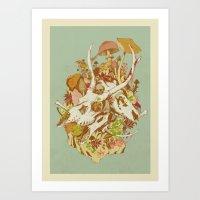 skulls in spring Art Print