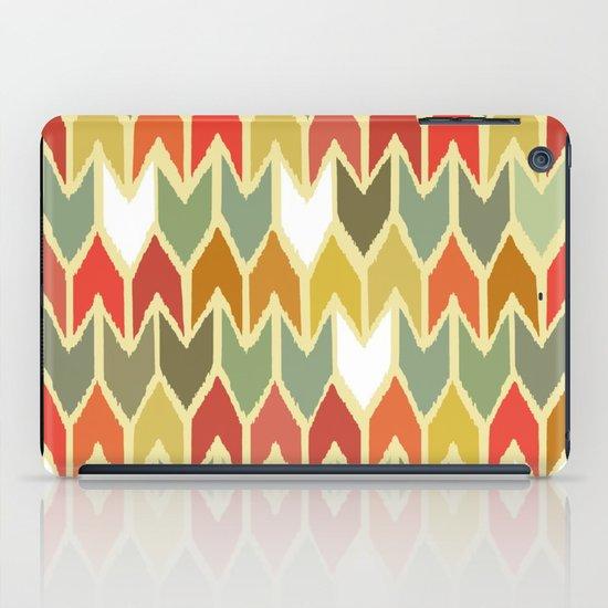 warm ikat chevron iPad Case