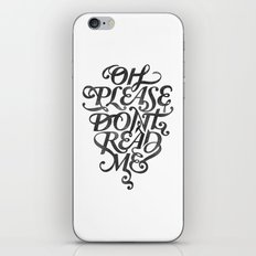 Please Don't (white version) iPhone & iPod Skin