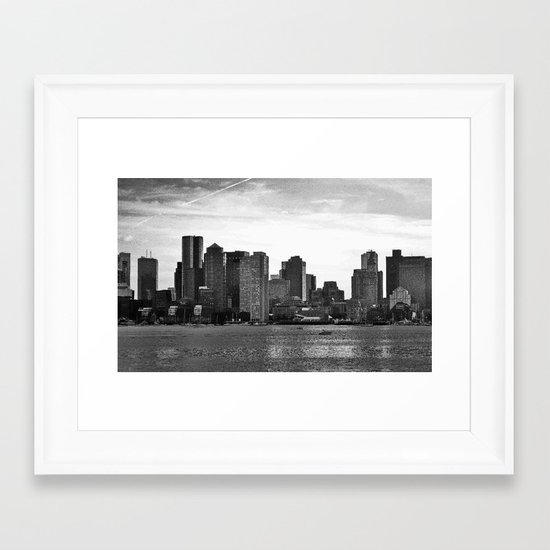 Boston, I love you. Framed Art Print