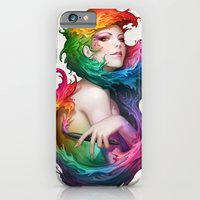 iPhone Cases featuring Angel of Colors by Artgerm™