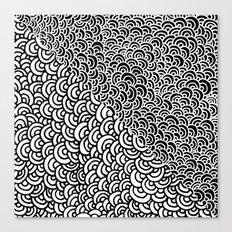 Double Scallop Canvas Print
