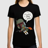 boba Womens Fitted Tee Black SMALL