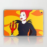 Laptop & iPad Skin featuring Devil Flames by Jessica Slater Desig…