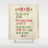 Buddy The Elf! The Code … Shower Curtain