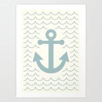 Classy Anchor Art Print