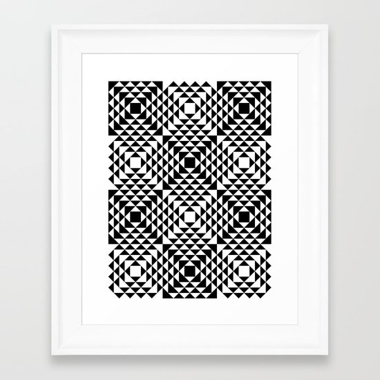 Geometric Tribal Framed Art Print