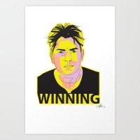 Charlie Sheen Winning_Ink Art Print
