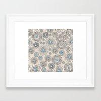 Flower Bubble Framed Art Print