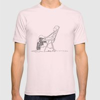 If I fart he will wake up Mens Fitted Tee Light Pink SMALL