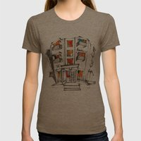 Japanese Building Womens Fitted Tee Tri-Coffee SMALL