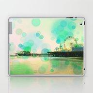 Santa Monica Pier Blue G… Laptop & iPad Skin